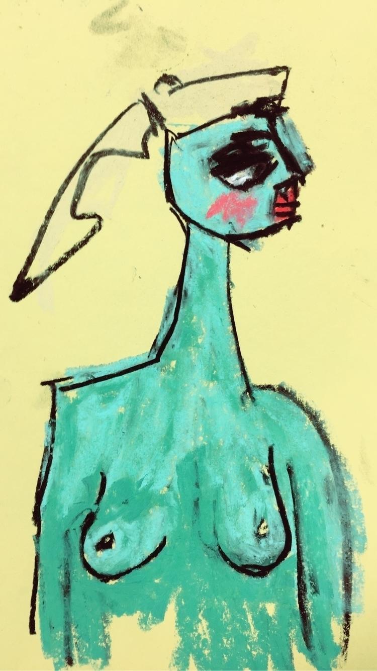 Peppermint Club - art, drawing - jkalamarz   ello