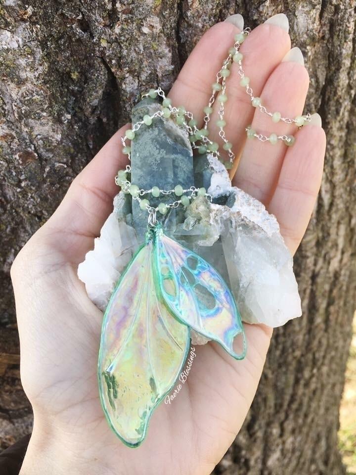 Beautiful faerie wing necklaces - faerieblessings | ello