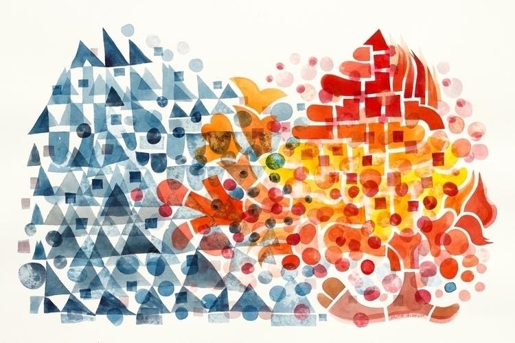 Ice Fire, watercolor, 22 33. Li - mikebiskup | ello