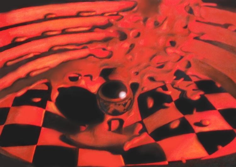 Soft Rosso VII. Oil painting - pinomarkovich | ello