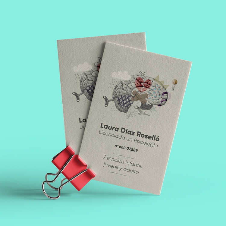 Illustrated logo business cards - llanwafu | ello