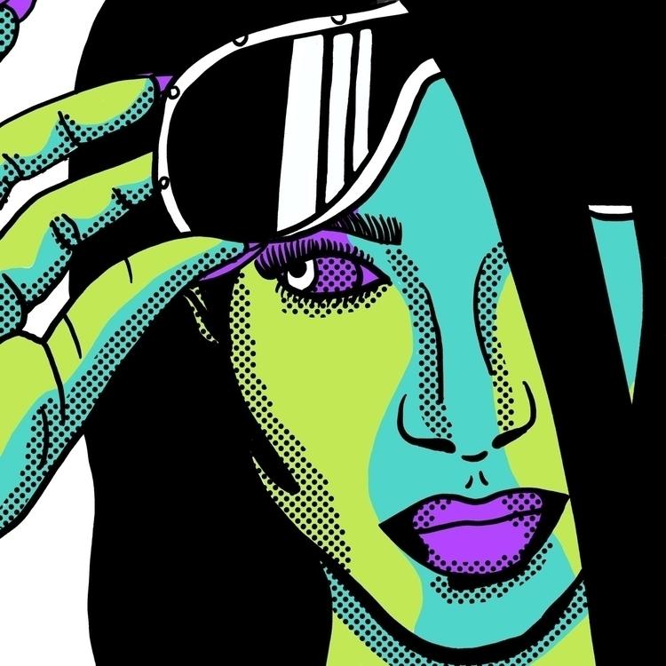 Alien Aaliyah - art, design, ello - geelsee | ello
