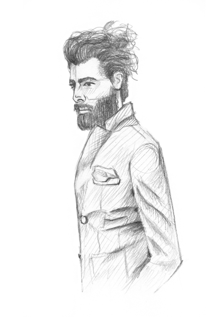Curated Man Bun - Portraiture, Sketch - jrenas | ello