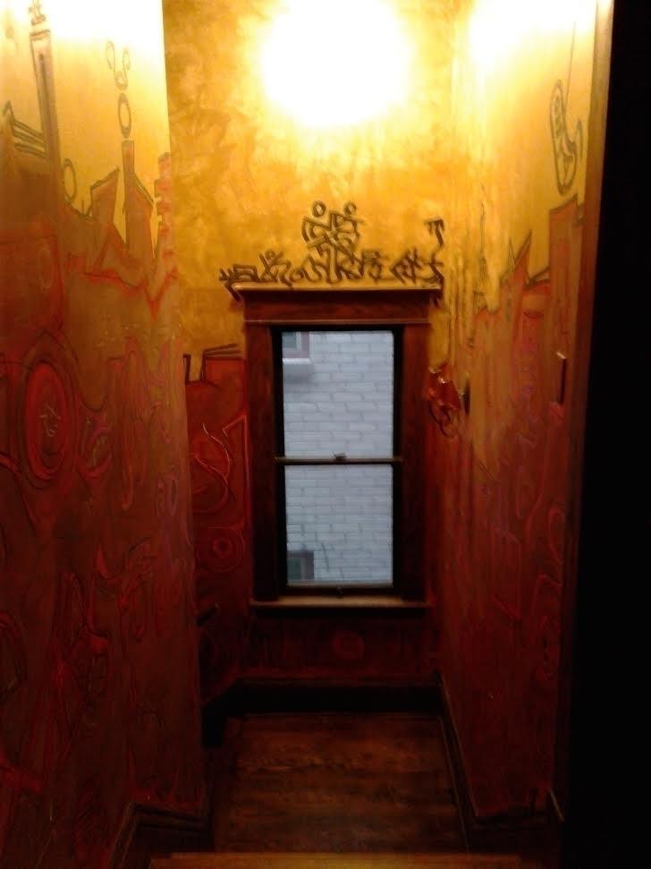 asemic, writing, mural, Michael - asemicwriter | ello