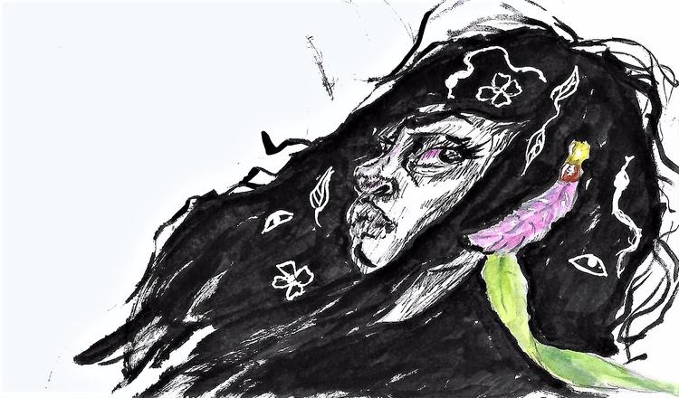 easy feeling giving gain - art, ink - limemariedupree | ello