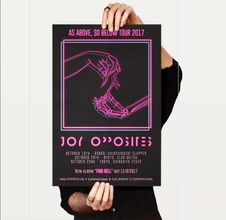 Tour poster art band joy opposi - ricky_thomas | ello
