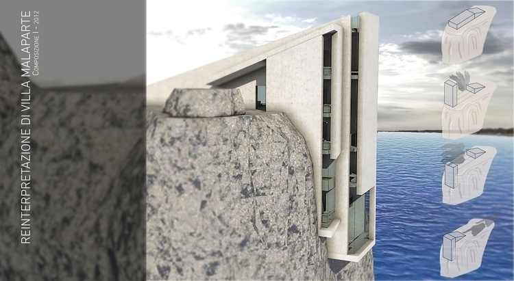 Reinterpretation Villa Malapart - pierluigipacearchitecture | ello