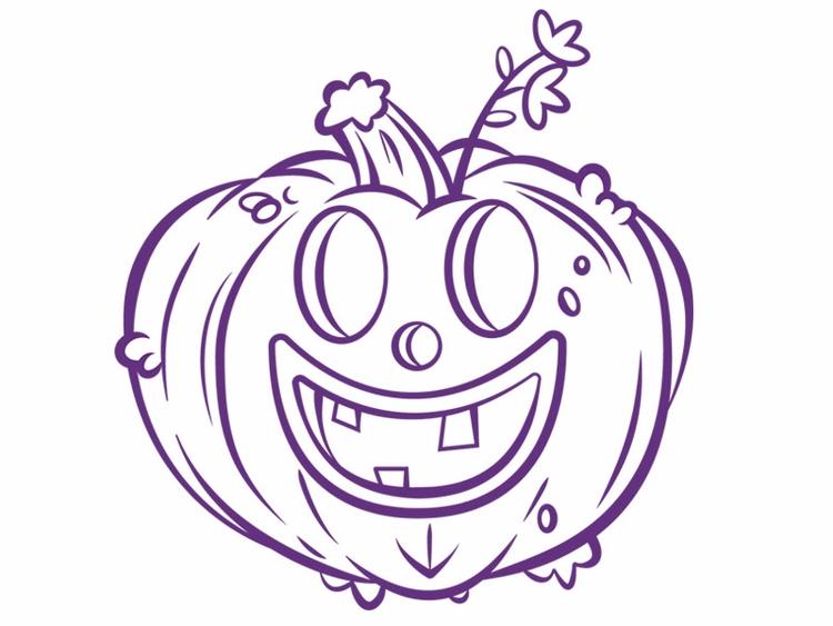 line work project - pumpkin, halloween - mikemcleod | ello
