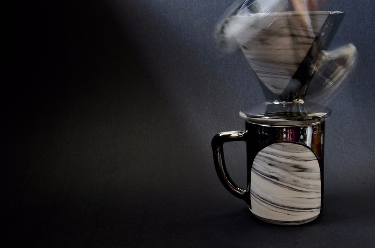 Porcelain marbled coffee drippe - mrschachter | ello