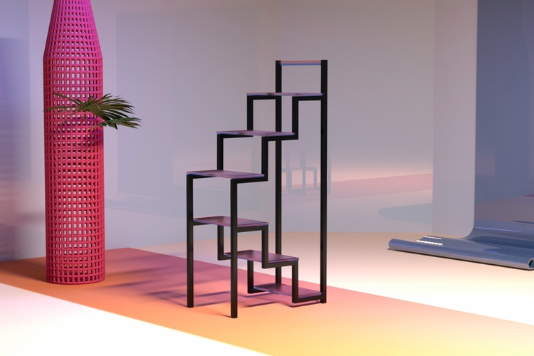 Stair shelf, mesh planter, wavy - berenicegolmann | ello