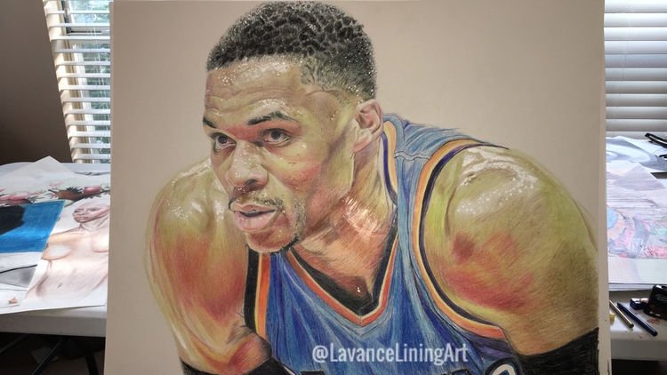 Colored pencil drawing Russell  - lavanceliningart | ello