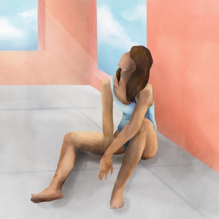 Sunbathing - design, illustration - jenifferrivera | ello