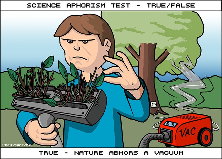 Nature Abhors Vacuum - cartoon, comics - rickatkinson | ello