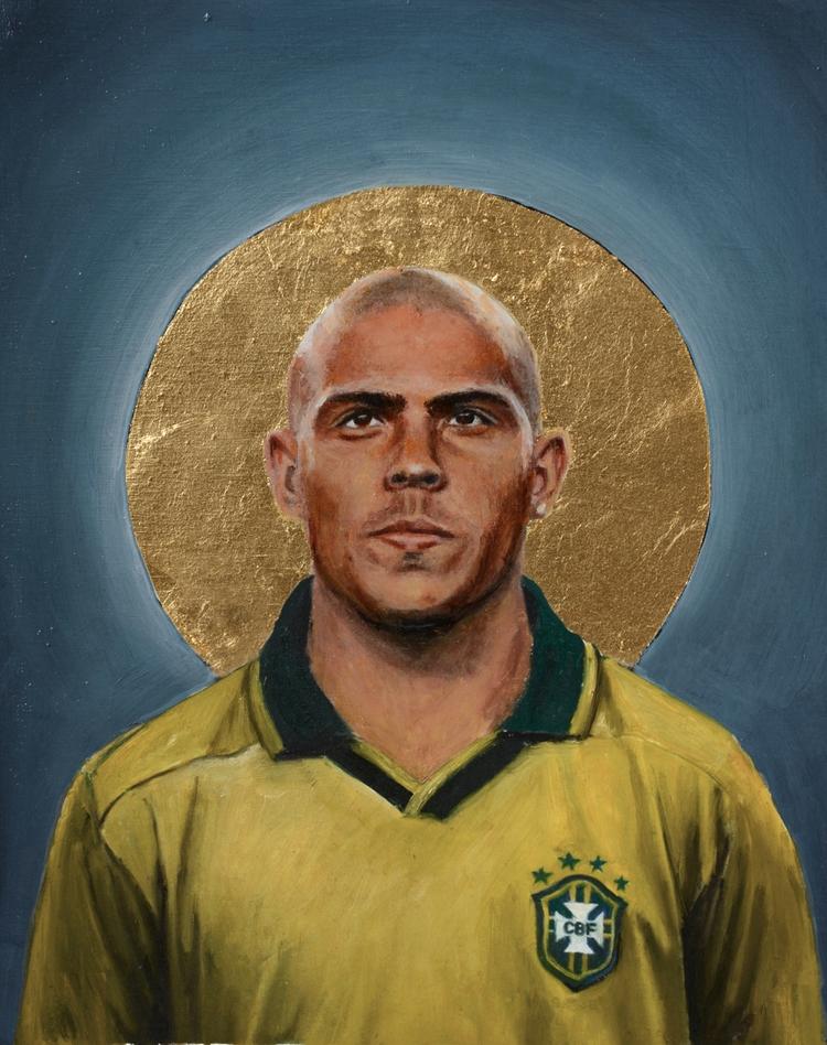 Ronaldo Oil goldleaf pine wood  - daviddiehl | ello