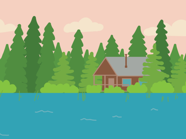 Cabin woods. Part book illustra - ashleighgreen | ello