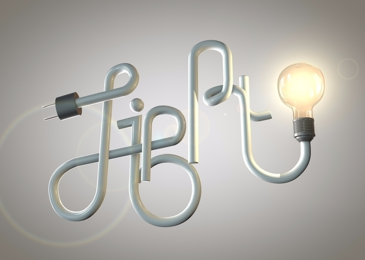 typographie, c4d, cinema4d, light - tomrouleau | ello