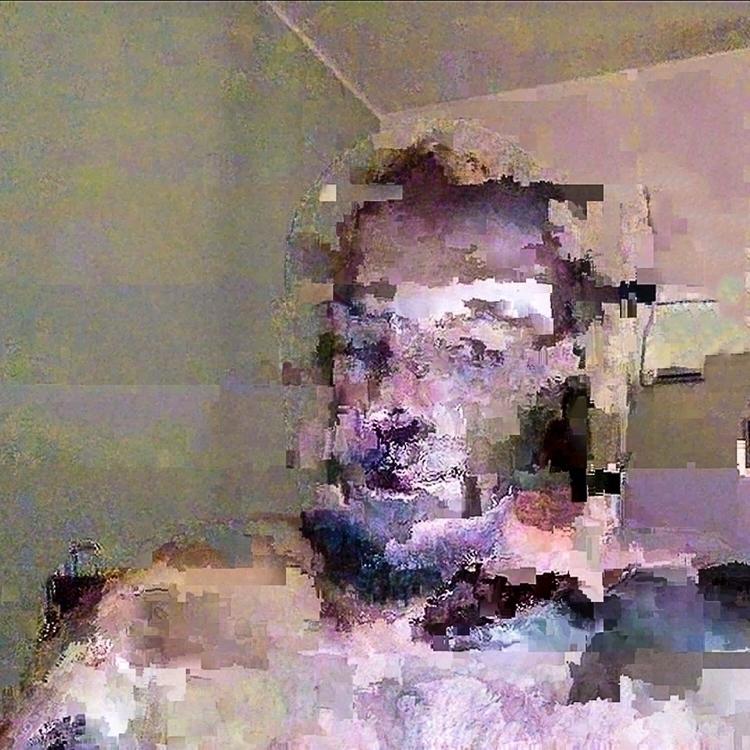 elloglitchart, selfportrait, datamoshing - twinpixel | ello