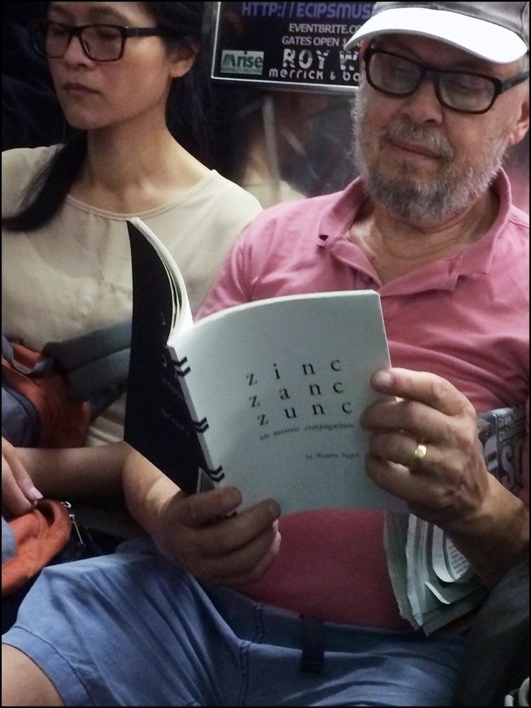Man Reading Zinc Zanc Zunc: Ase - asemicwriter | ello