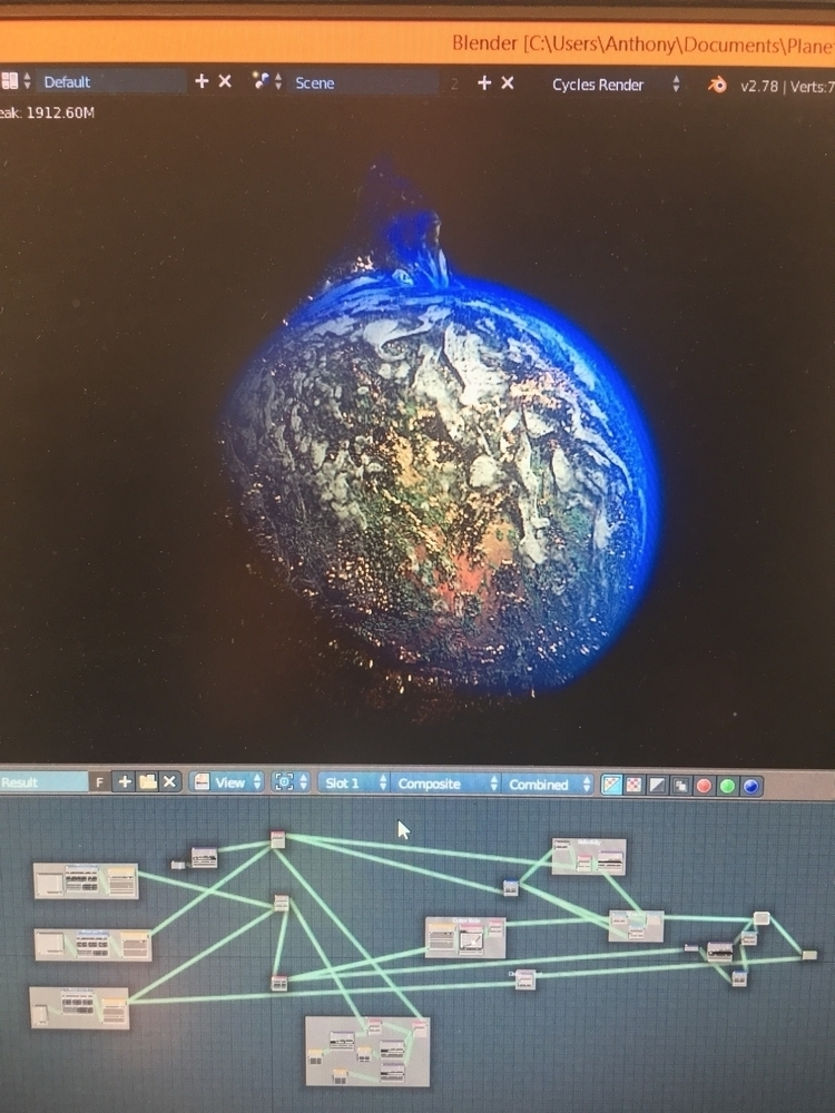 3D render planet formed nano se - fur_mint | ello