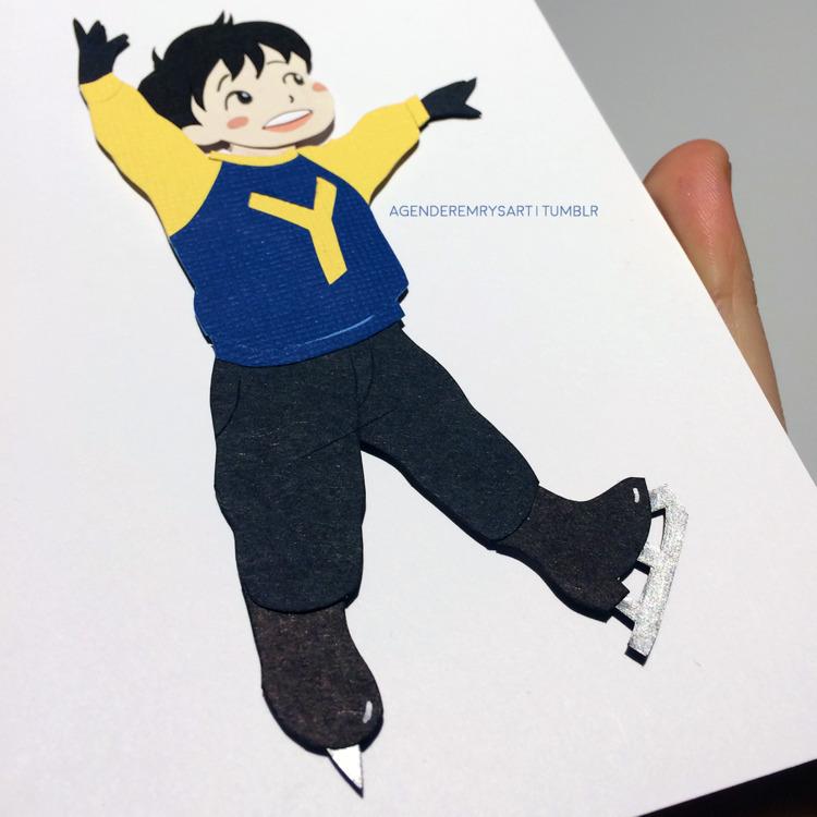 BB Katsudon papercraft Yuri Ice - agenderemryspaperart | ello