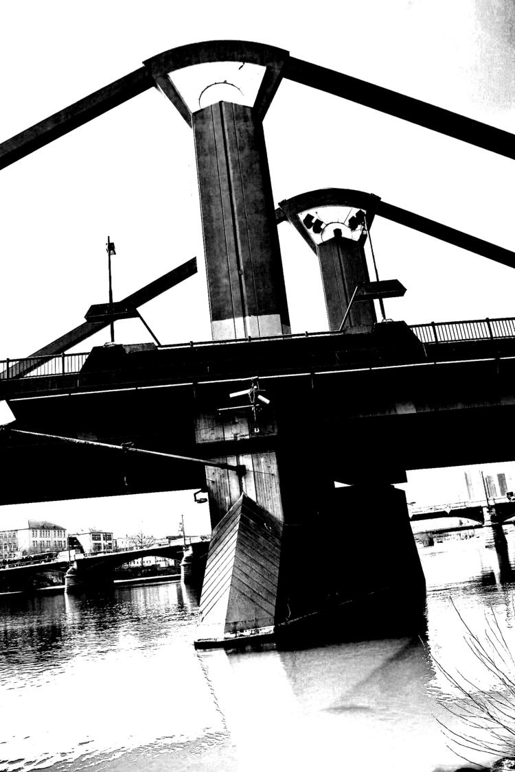 Bridge river - blackandwhitephotography - borisholtz | ello