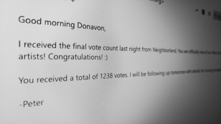 voted. comissioned artwork publ - donavonmadethat | ello