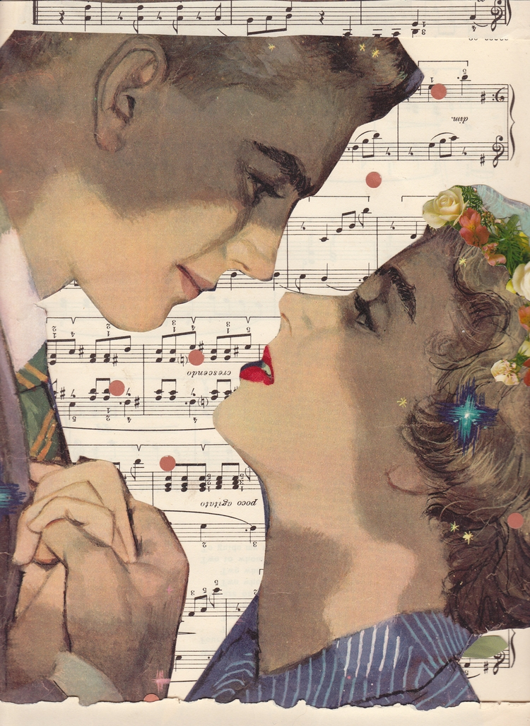 Slow Dancing Collage created Je - jeanneteolis | ello