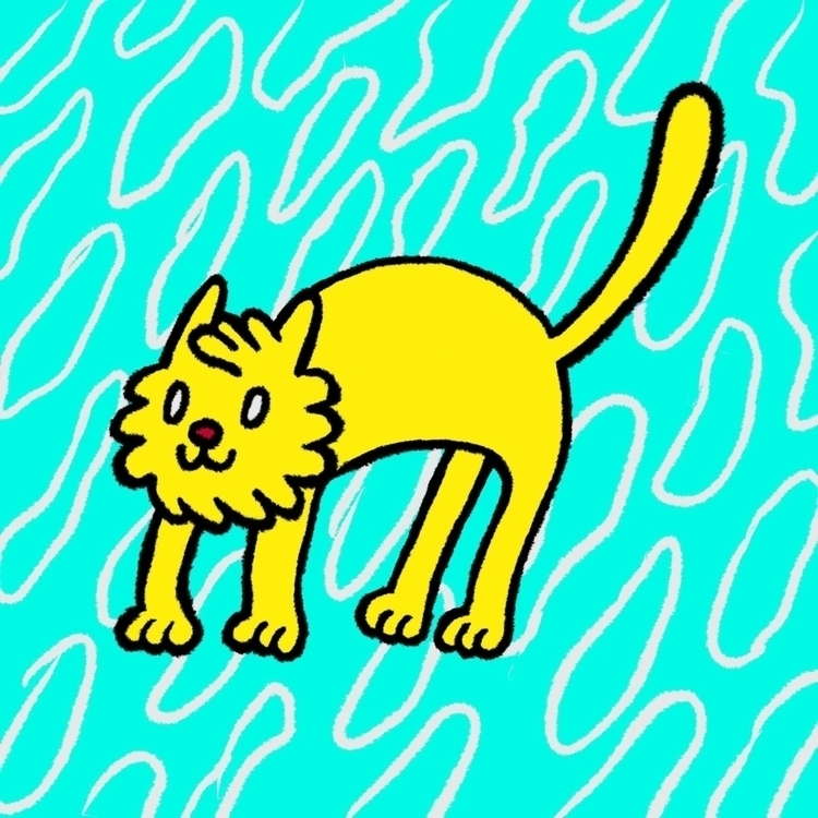 1 Katze Digital Doodle - illustration - timrobot | ello