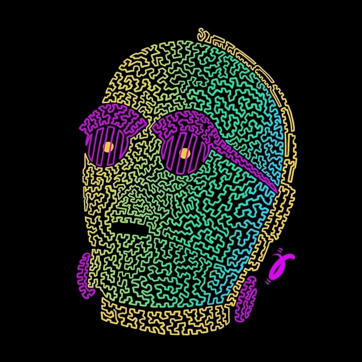 C3 Neon. Squiggle Furmie - starwars - furmie   ello