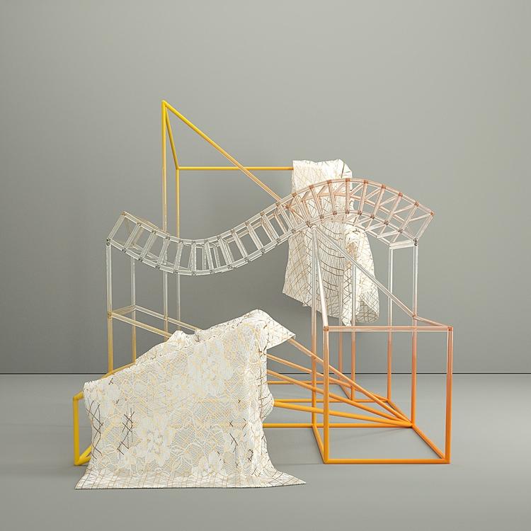 THINGZ - sculpture, wire, MTL, Minimal - aaaronkaufman   ello