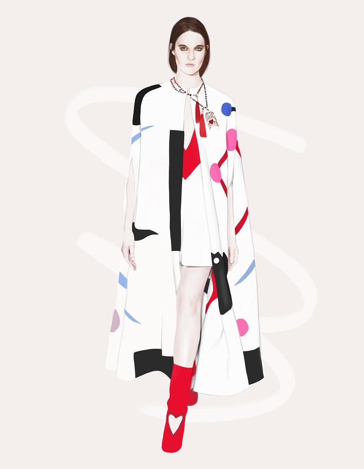 Schiaparelli - fashion, fashionillustration - polilovi | ello