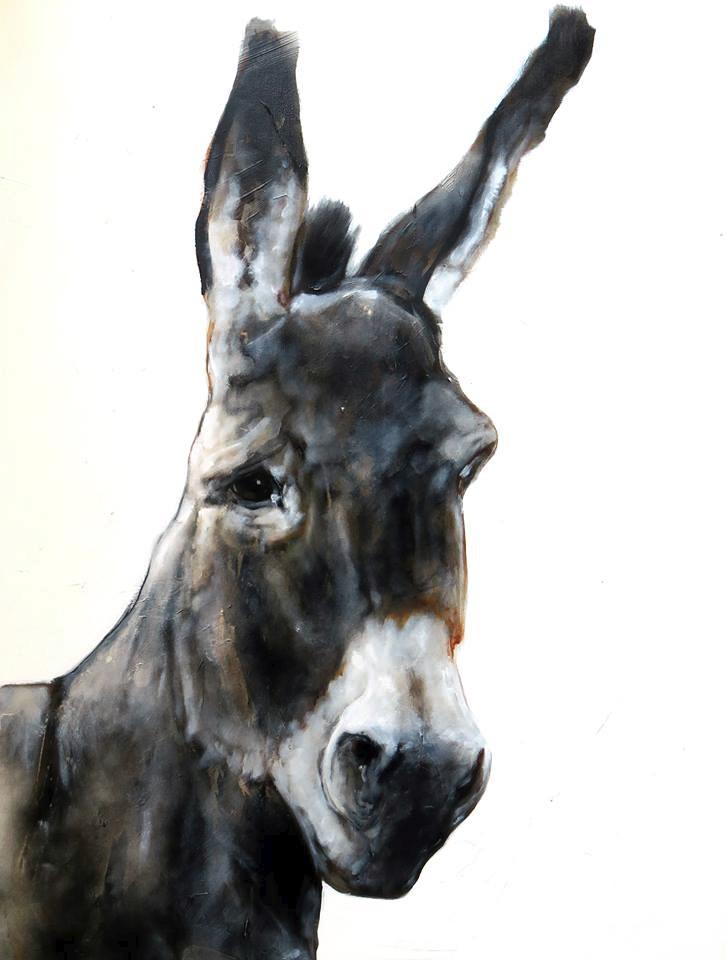 donkey, 100*80 cm, acrylic/oil - jahupo | ello