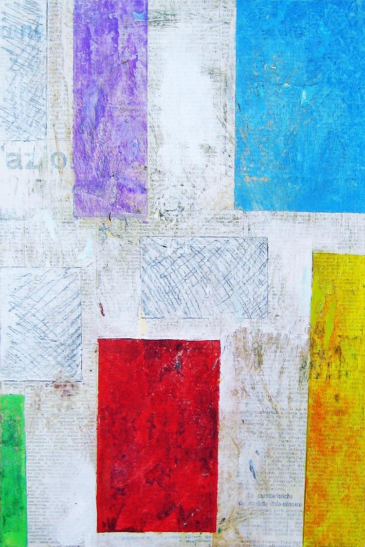 pezzi di colore acrilici su tel - stefanopedrinidisegni | ello
