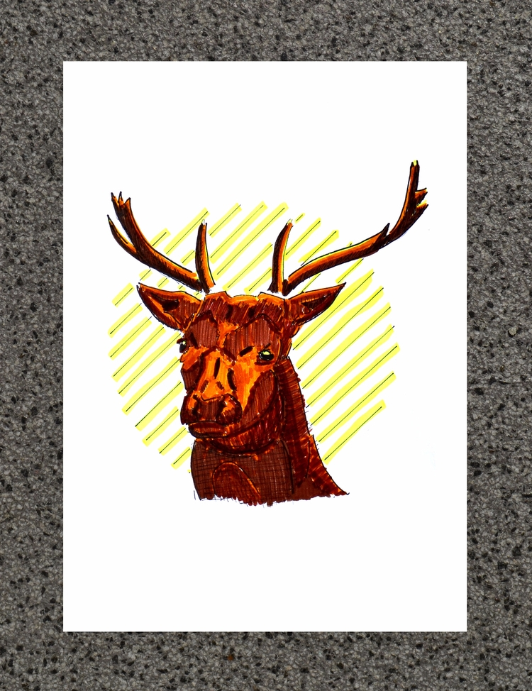 | Deer - Sketch July 2017 find - edwln | ello