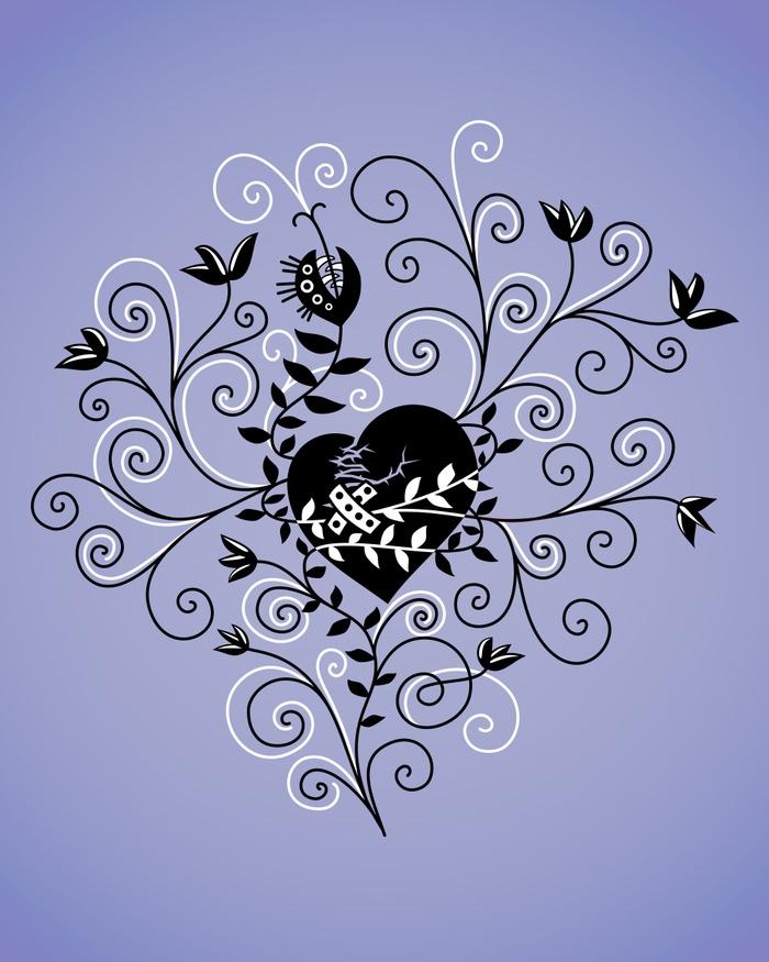 finished print heart - society6 - borianag | ello