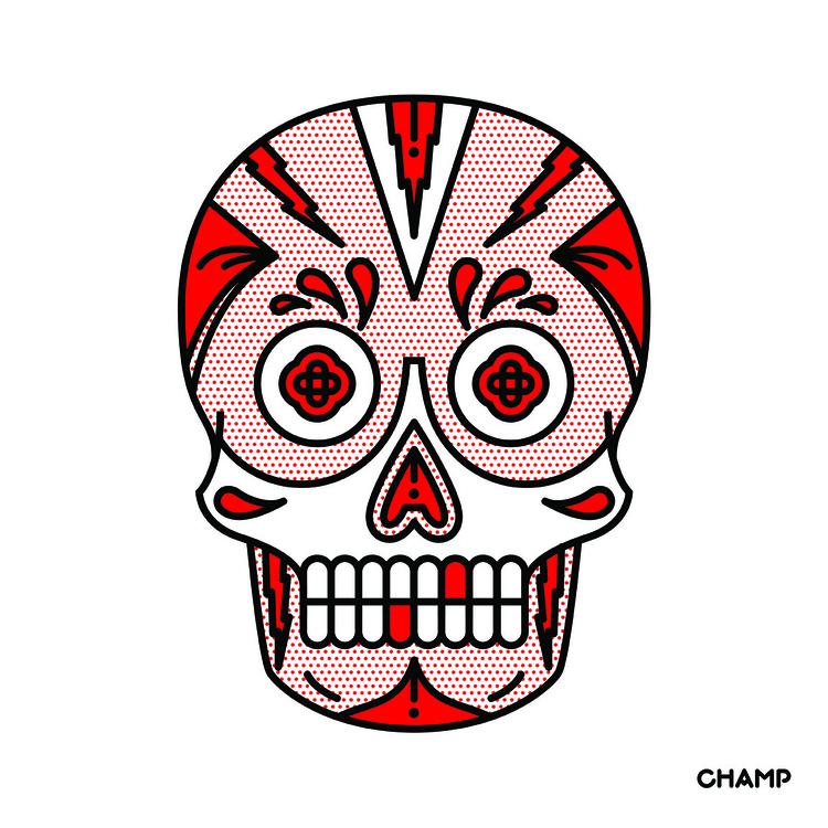 Sugar Skull - skull, sugarskull - champnyc | ello