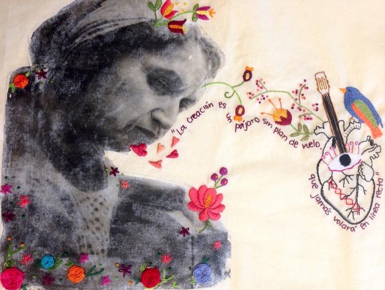 Violeta Parra Embroidery Carol  - fofysfactory | ello
