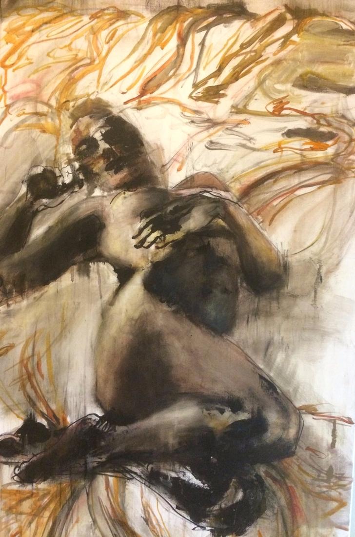 GAZE' oil ink canvas, 24 48 201 - blflood | ello