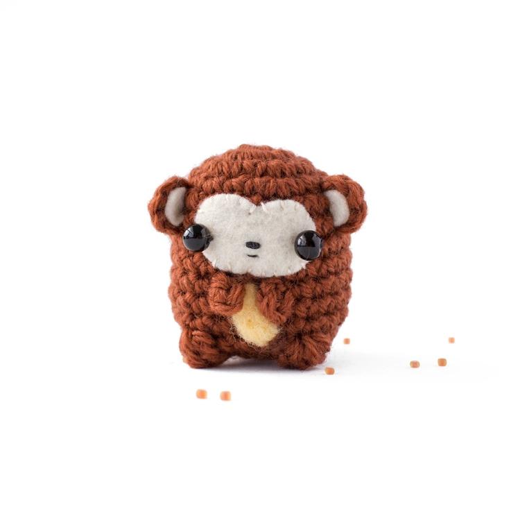 Daily amigurumi 42 monkey small - mohu | ello