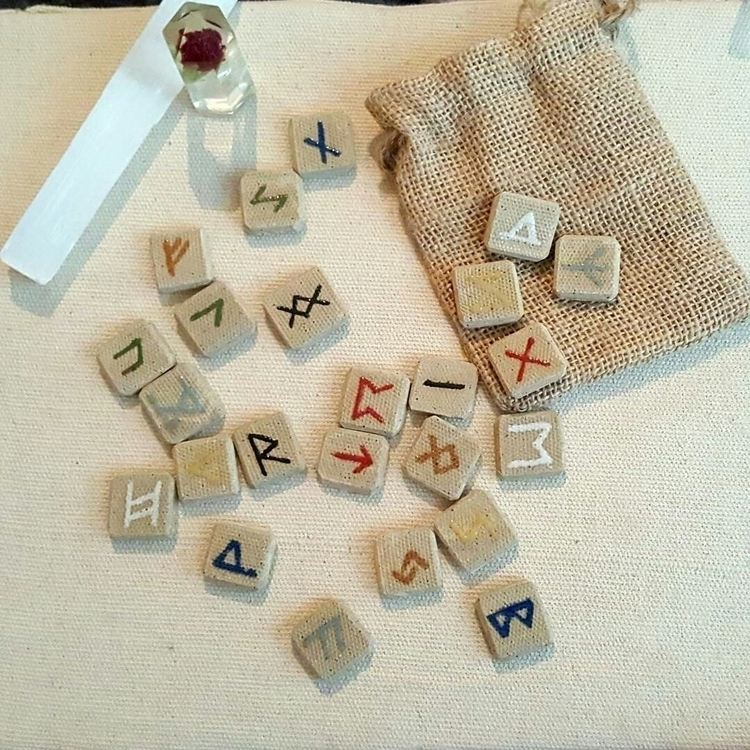 Pottery Elder Futhark Rune set  - hiddenlegacy | ello