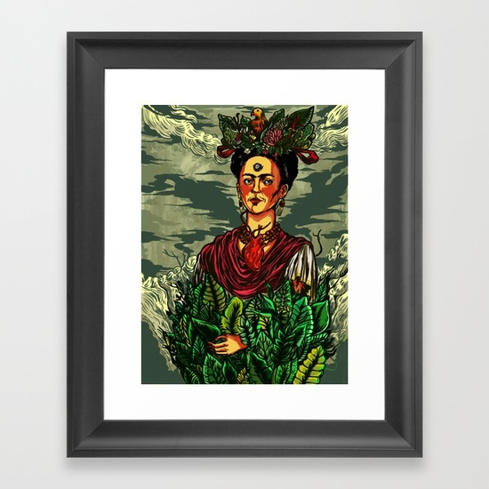 frida, fridakahlo, illustration - nicolaenegura | ello