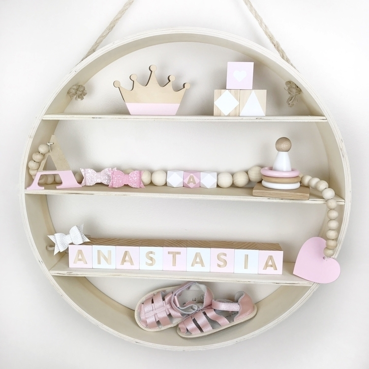 Pretty Pink Personalised blocks - seedlinginteriors | ello