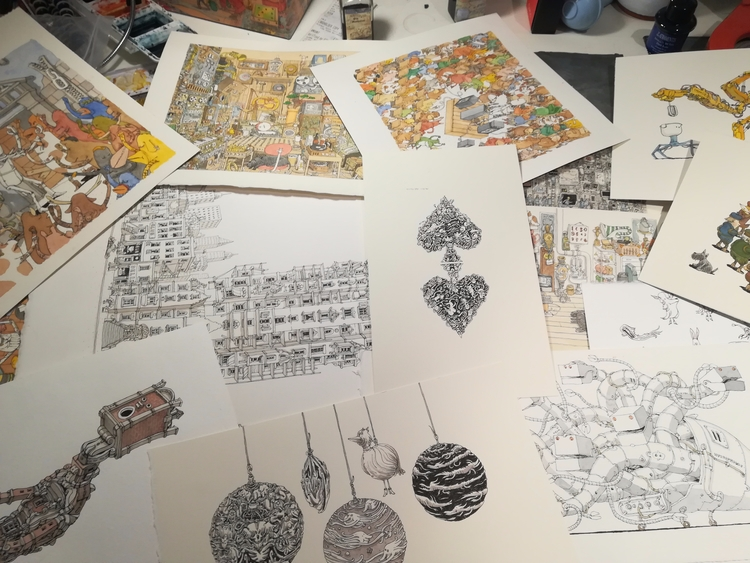 Ink watercolours galore - mattiasadolfsson | ello