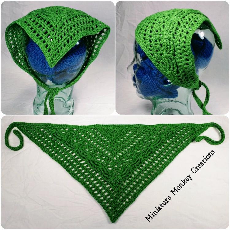 Green Textured Kerchief kerchie - miniaturemonkeycreations | ello