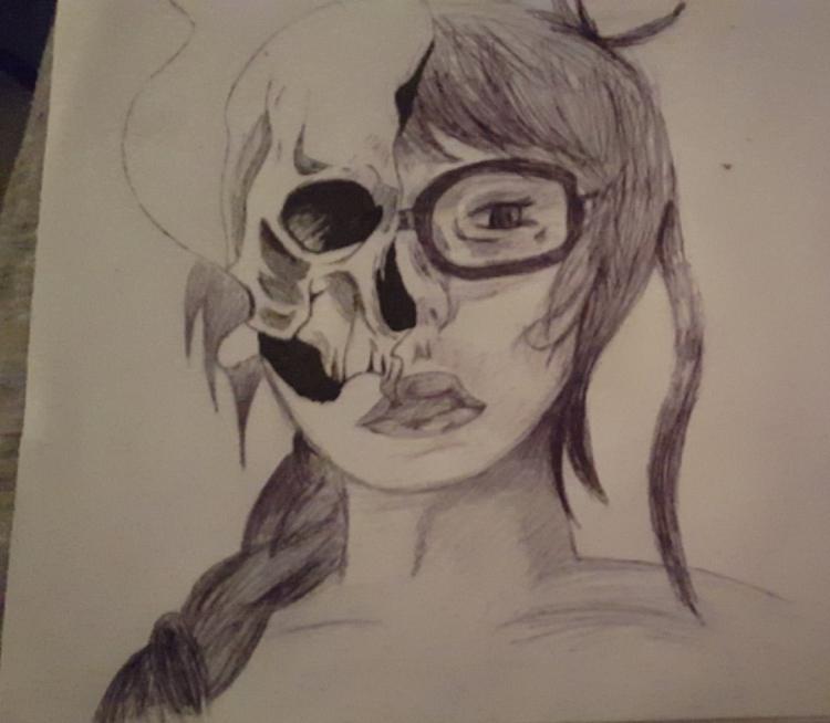 Smoking kills - biro, fineliner - hazy-nights   ello
