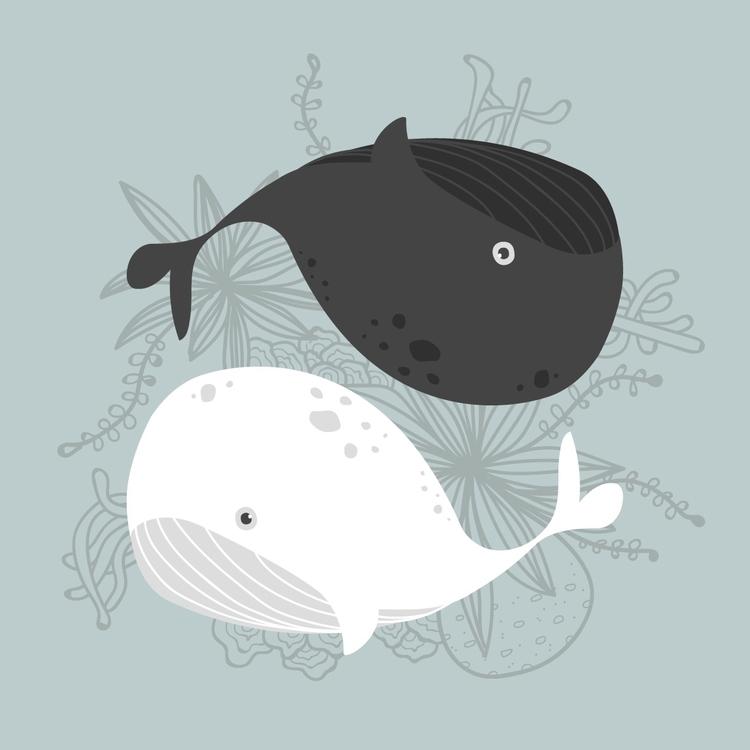 Yin Yang - yinyang, whales, whale - tinyghost | ello