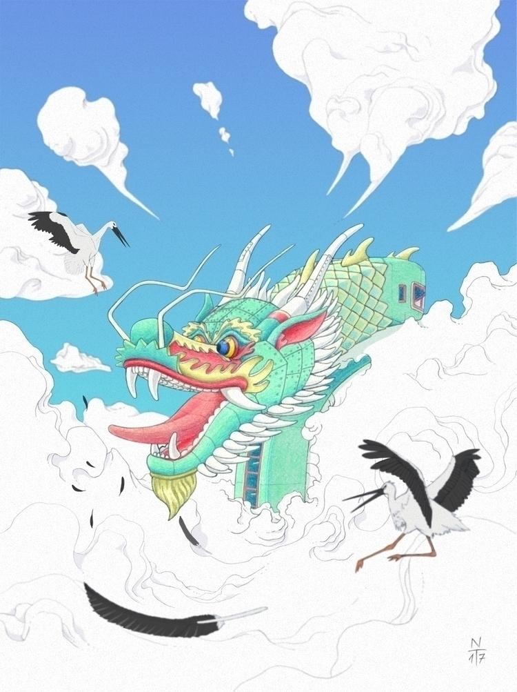 Tekkonkinkreet Dragon - 2017 - illustration - 3-3-3 | ello