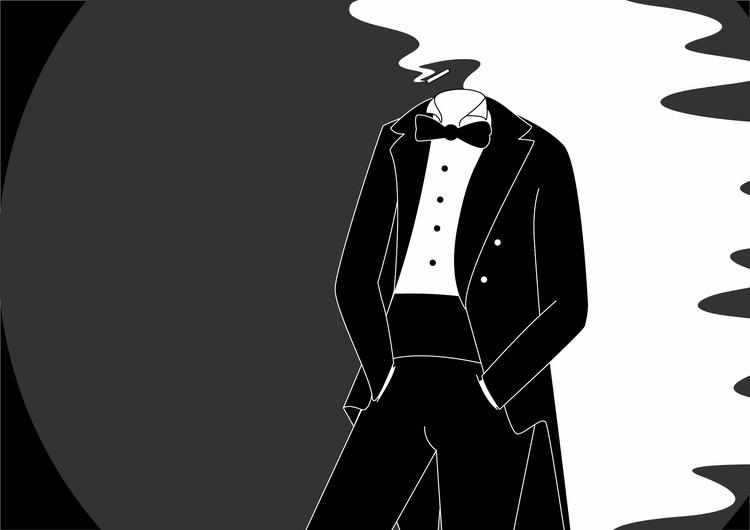 wore smoking suit yesterday nig - cosdesign | ello
