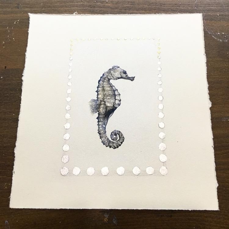 painting - seahorse, nature, fish - alexakarabin | ello