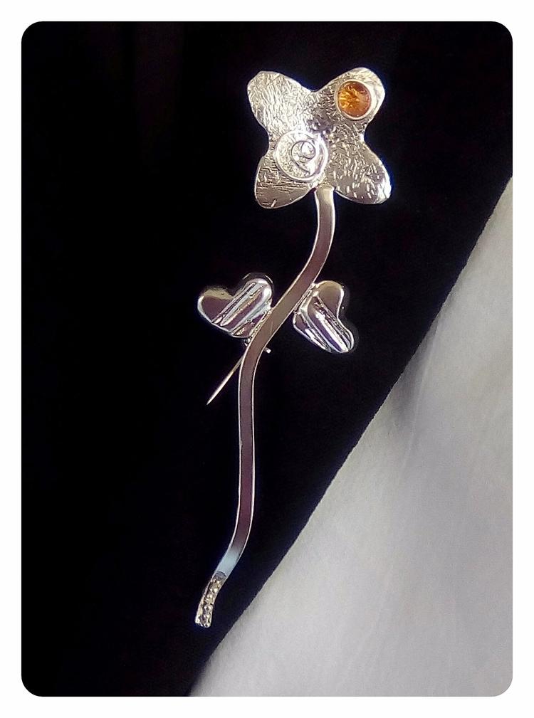 Handmade 925 sterling silver fl - stellasjewelryart | ello